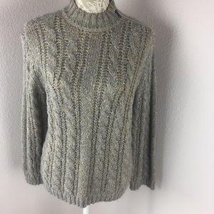Chelsea & Violet Gray Gold Sweater Medium